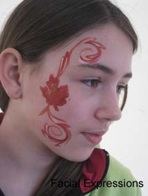 Calgary Canada Day Facepainting Cheek Art