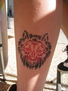 Wolf Airbrush temporary Tattoo