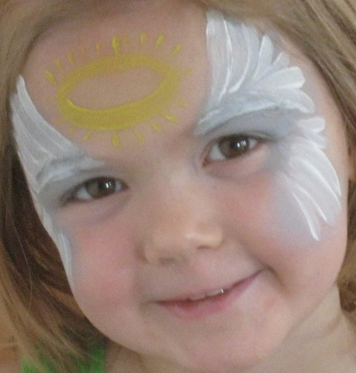 Face Painted Angels Shine at Calgary Parties