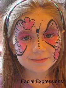 Maple Leaf Butterfly Facepainting - a pretty alternative for Canada Day