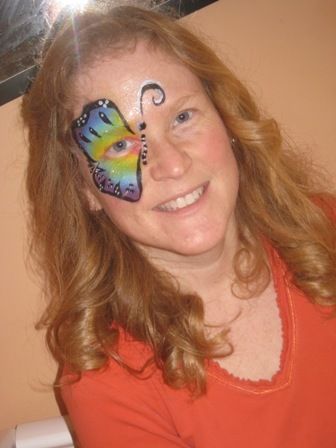 Self-painted Butterfly Face