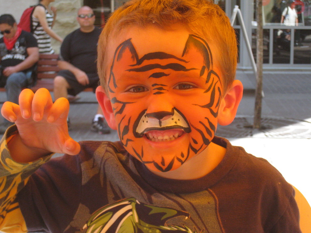 Furr-ocious Tiger Face Painting
